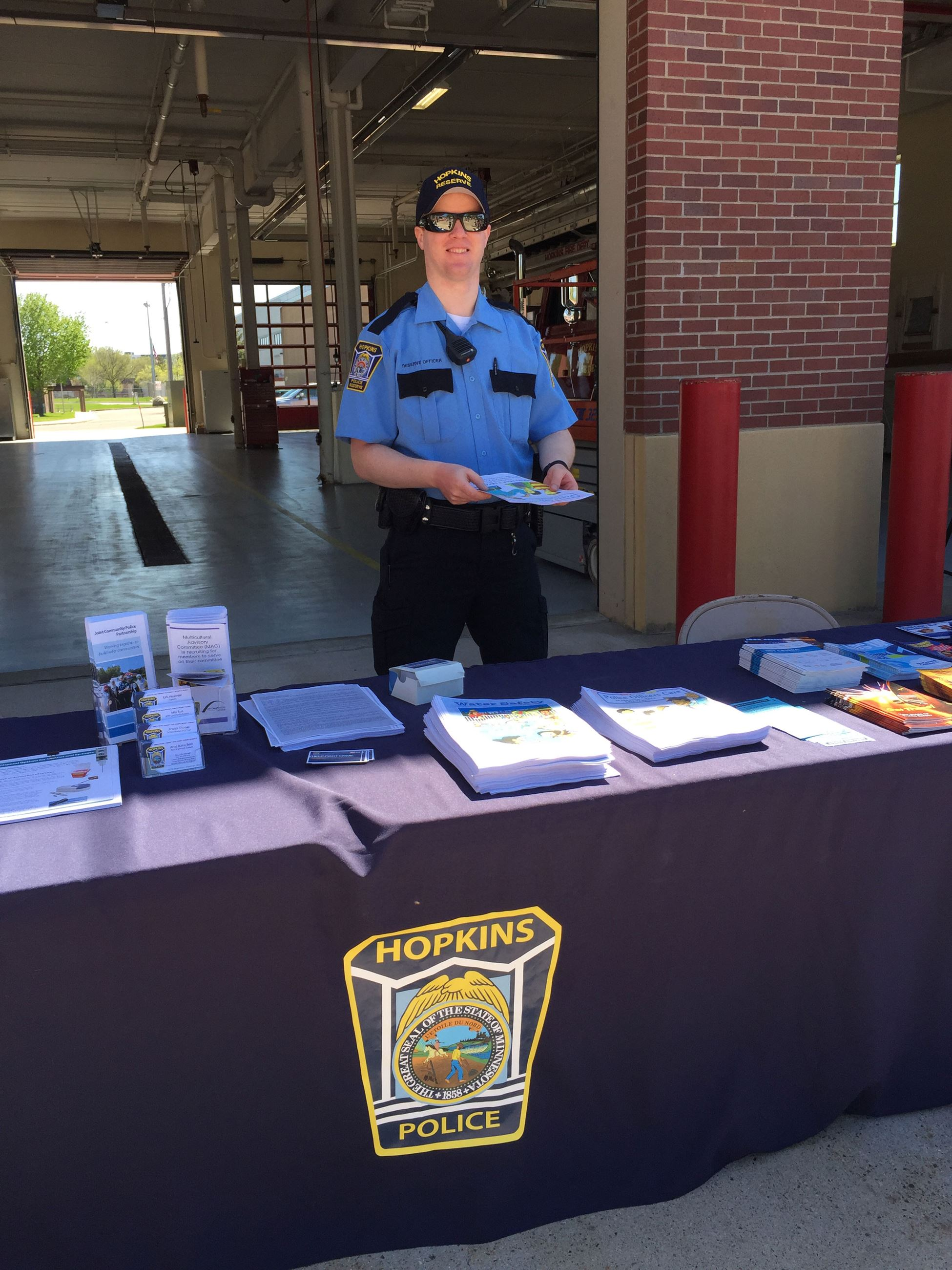 Police Reserves Helping in the Community - by the Booth at Fire Open House