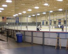 Hockey Practice Taking Place at Pavilion