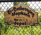 Re-Rasberrygiving Hopkins - The Depot Sign